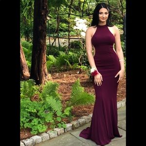Faviana 7943 Long Prom Dress Plum